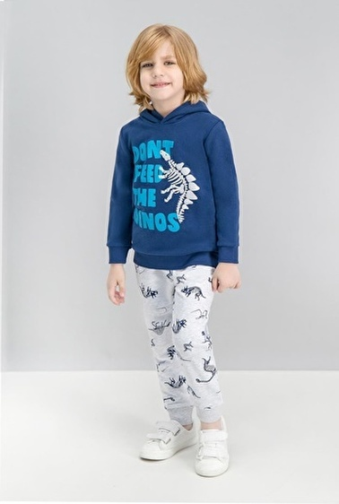 Roly Poly Rolypoly Don'T Feed Dinosaur Lacivert Erkek Çocuk Eşofman Takımı Lacivert